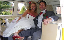 VW Camper van hire for your big day
